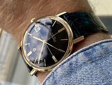 Omega Seamaster De Ville Crosshair Black Dial Crosshair Mechanical Gold watch