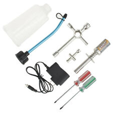 Rc Nitro Starter Kit Glow Plug Igniter W/ Charger Fuel Bottle & Tools 80142A