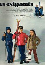 P- Publicité Advertising 1970 Les Vetements de ski pour enfants Jean Le Bourget