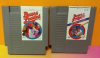 Bases Loaded Baseball I + II - 1 + 2 -  Nintendo NES Authentic Game Tested