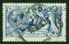 SG 411 10/- deep blue. Fine used London CDS. Good colour and centring...