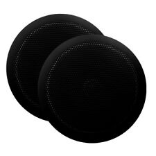 "Majestic SPK60 6"" Ultra Slim Marine Black Speaker Pair - Free shipping"
