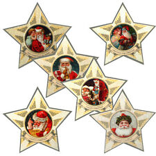 150 Santa's Star Petite Gift Cards,Traditional Santa Images with Crystal Glitter