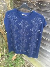 Navy Blue Studded Top From Tu Size 16