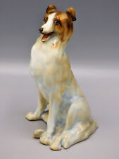 Royal Doulton Hn112 Seated Collie Dog (Alsatian) Pale Gray Circa 1910 Rare