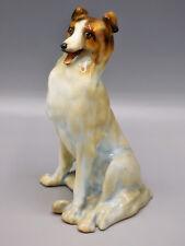 Royal Doulton HN112 Seated Collie Dog (Alsatian) Pale Gray Circa 1910 Rare