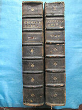RIGAULT / PAMELE : TERTULLIEN OPERA (OEUVRES), 1634-35. 2 volumes in folio.