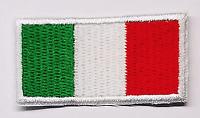 4 TOPPE PATCH RICAMATE TERMOADESIVE KIT ITALIA BANDIERA TRICOLORE 5 X 2,5 CM