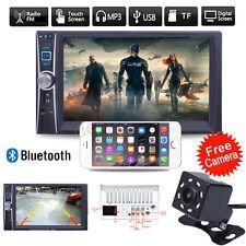 "7"" HD 2 DIN Car Touch Bluetooth Stereo Radio FM MP5 Player GPS Navigation Camera"