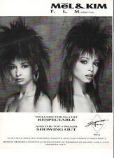 MEL and KIM   F.L.M. UK magazine ADVERT / mini Poster 11x8 inches