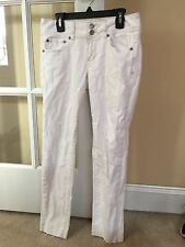 American Eagle White Skinny Stretch Jeans In Size 2