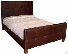 Beautiful Queen Size Genuine Leather Bed, Double Needle, Tufted