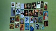 RELIC RELIQUIE HOLY CARDS SET OF 30 DIFFERENT PIECES COLLECTION