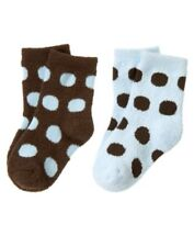 NWT GYMBOREE GIRLS BEST FRIEND BLUE BROWN DOT HEAVY 2 PR SOCKS 6-12 MO Free Ship