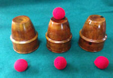Cups and Balls -Wood (Western) - Magic Trick