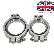 Tial MV-R 44mm 2pc V-band Stainless Steel Flange Clamp Wastegate V Band by TRiX