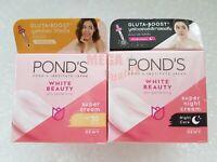 Set Day+Night POND s WHITE BEAUTY WhitePlus Serum Cream Spot-less Rosy White 50g