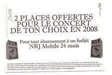 Carte publicitaire - NRJ Mobile