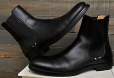 $995 Calvin Klein Collection 5526 Black Leather Mens Chelsea Boots 13 - 46 ITALY