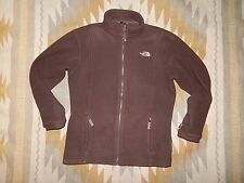 The North Face Fleece Zipper Front Jacket ~ Girl's XL ~ Women's M ~ Brown