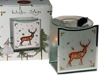 Christmas Reindeer Stag Glass Oil Burner