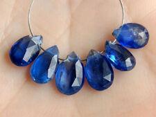 Natural Dark Blue Kyanite Faceted Pear Briolette Gemstone Beads