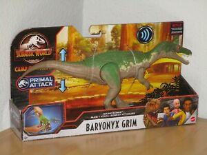 Jurassic World Baryonyx Grim Dinosaur Action Figure Sound Strike Primal Attack