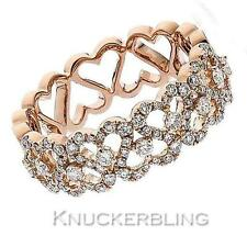 Diamond Half Eternity Wedding Ring 0.60ct Brilliant Cut F VS in 18ct Rose Gold