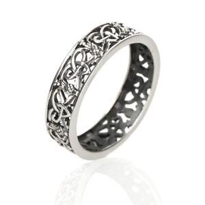 Outlander Ring aus Schottland mit Disteln & keltischen Ornamenten