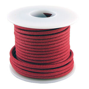 20 Gauge Stranded Cloth Wire 50 Feet, Red