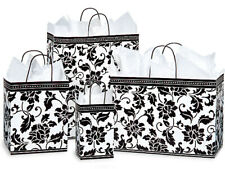 FLORAL BROCADE Gloss Design Gift Paper Bag Only Choose Size & Package Amount