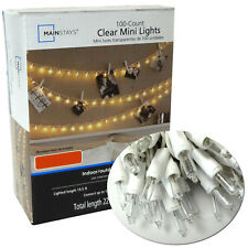 100 Clear Mini String Lights Christmas Wedding Tree Decoration Outdoor Patio New