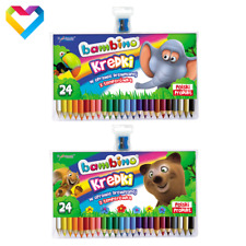 BAMBINO COLOURING PENCILS 24 COLOURS FOR KIDS + SHARPENER - KREDKI BAMBINO