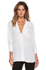 EQUIPMENT  $228 WHITE SILK LANGSTON BLOUSE TOP SHIRT   XS