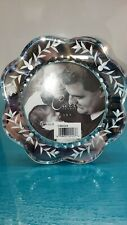 Carr etched mirror glass photo frame Czech style 4 x 4