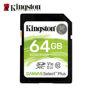 NEW Kingston SDS2 64GB Canvas Select Plus SDXC Memory Card Class 10 UHS-I U1