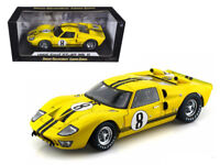 1966 Ford GT-40 MK 2 Yellow #8 1/18 Car Model by Shelby Collectibles