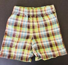 Carter's Toddler Boys Size 4t Island Print Soft Cotton Shorts FREE Shpg NWTA