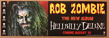 Rob Zombie Rare1998 Promo Poster Banner wDate 4 Hellbilly Cd Never Display White