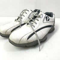 GENTLY USED FootJoy SUPERLITES Men Golf Shoes 58011-White/Black Size 7.5M