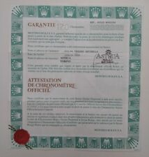 ROLEX Certificate Garantie Warranty 564001U Datejust PEARLMASTER 69328 Garanzia