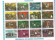 Briefmarken block Rep. de Guinea Ecuatorial Bilder Leben Napoleon