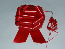 """Red Wedding Pew Bows Valentines Reception Chair Decorations Pull Bows 8"""""""