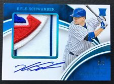 ⚾ #/5 Kyle Schwarber 2016 Immaculate Blue Rookie Auto Patch RC #RAPP-KS Logo