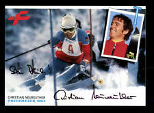 Christian Neureuther AUTOGRAPHE CARTE Original signé Skialpine + A 158781