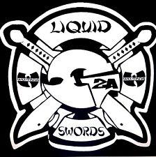 """Gza the Genius Symbol Decal Sticker """"Liquid Swords"""" Custom Vinyl 5.5"""" X 5.7"""""""