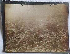 PHOTOS VINTAGE : Vues AERIENNE de PARIS et ses environs 1900 tirage argentique