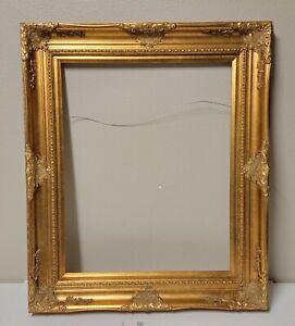 Large Ornate Artwork Frame, Victorian Design, Wood & Gesso 34x40'' for 24x30