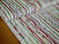 Clothworks Tela Patchwork, Just What I Wanted, Anita Jeram ,Serpentinas,Bandas
