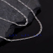 18K white Gold Filled Miami Curb Link 1.8MM wide 18~20 INCH Necklace Chain H1F